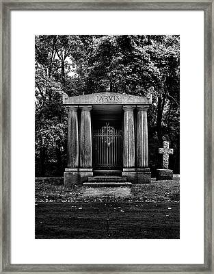 Framed Print featuring the photograph Tombstone Shadow No 7 by Brian Carson