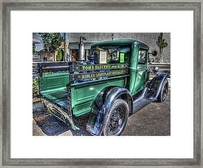Tom's Electric Truck Framed Print