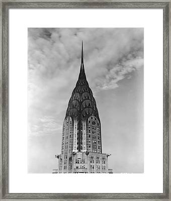 Top Of The Chrysler Building Framed Print by Frederic Lewis