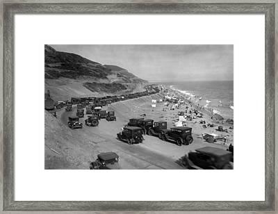 Topanga State Beach 1920 Framed Print