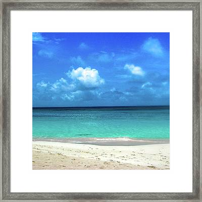 Topical Beach View Anguilla Framed Print