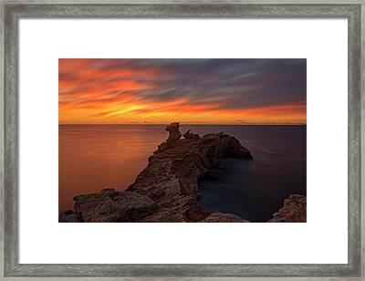 Total Calm At A Sunrise In Ibiza Framed Print