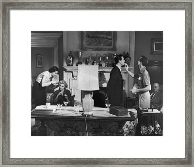 Touch Up Framed Print by Hulton Archive