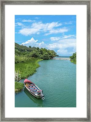 Tour Boat In Jamaica Framed Print