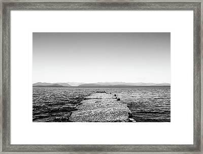 Towards The Nahuel Huapi Lake Framed Print