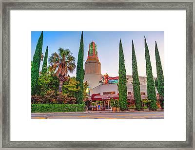 Tower Cafe Sunset- Framed Print