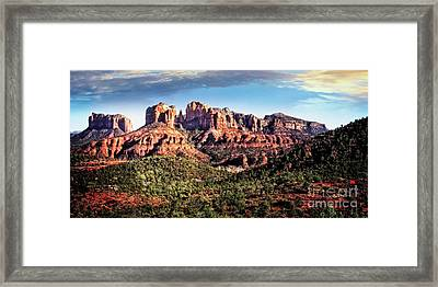 Framed Print featuring the photograph Towering Red Rocks by Scott Kemper