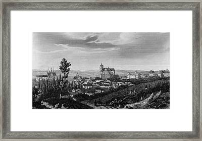 Town Of Le Mans Framed Print by Hulton Archive