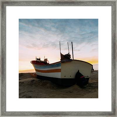 Traditional Wooden Fishing Boat Framed Print