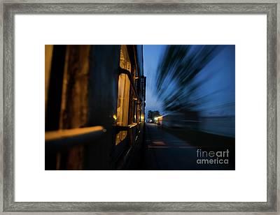 Train In Motion Framed Print