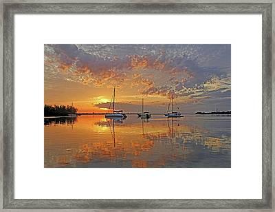 Tranquility Bay - Florida Sunrise Framed Print