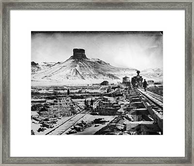 Transcontinental Railroad Framed Print by Fotosearch