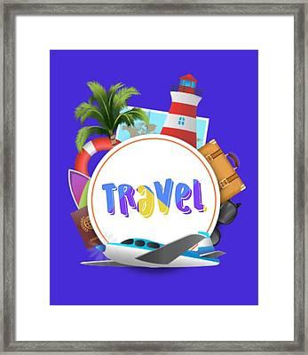 Travel World Framed Print