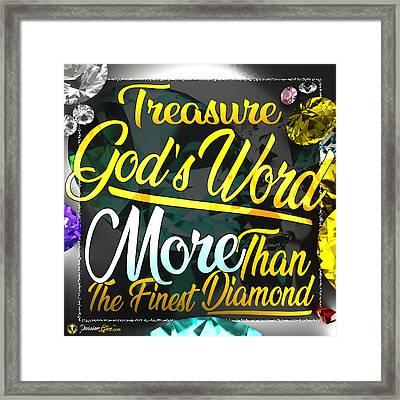 Treasure God's Word Framed Print