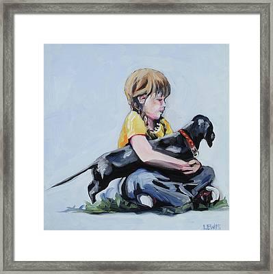 Treasured Dog Framed Print by Anne Lewis
