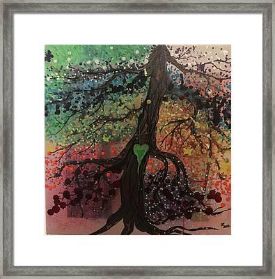 Tree Of Life Chakra Tree Framed Print