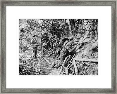 Trench Near Manila Framed Print by Hulton Archive