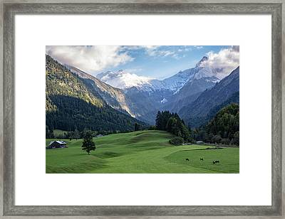 Framed Print featuring the photograph Trettachtal, Allgaeu by Andreas Levi