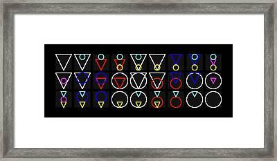 Tria-rcle Alphabet Colour Framed Print