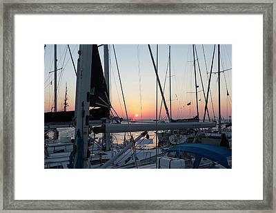 Framed Print featuring the photograph Trieste Sunset by Helga Novelli