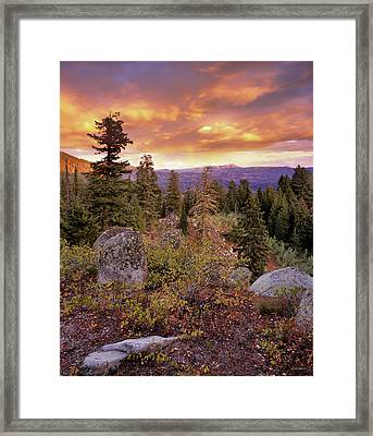 Trinity Mountains Framed Print by Leland D Howard