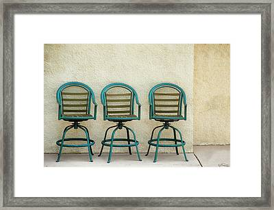 Trio Seationg Framed Print