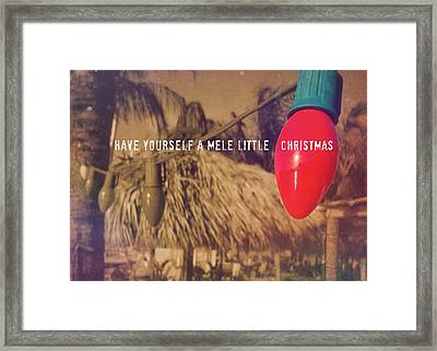 Tropical Holiday Quote Framed Print by JAMART Photography