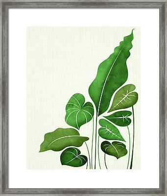 Framed Print featuring the painting Tropical Leaves by Kristian Gallagher