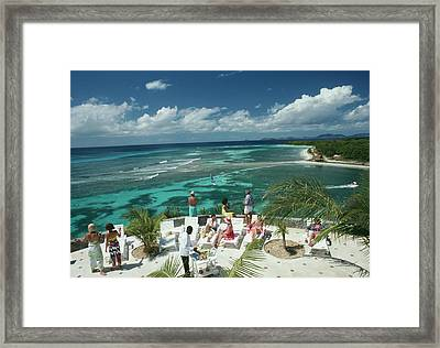 Tropical Mustique Framed Print by Slim Aarons