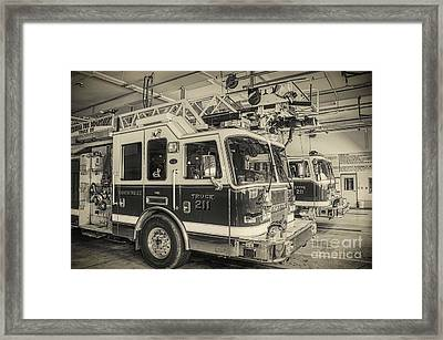 Truck And Engine 211 Framed Print