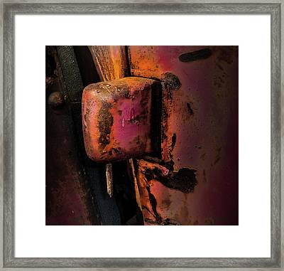 Truck Hinge With Nail Framed Print