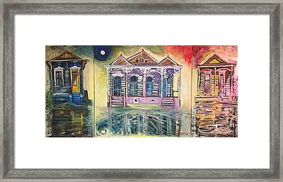 Tryptic On The Bayou New Orleans Framed Print
