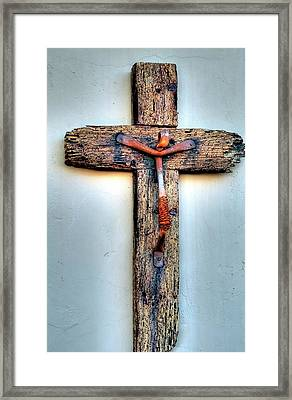 Framed Print featuring the photograph Tubac Cross by Jerry Sodorff