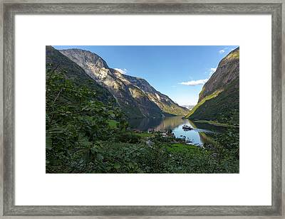 Framed Print featuring the photograph Tufte, Naerofjord, Norway by Andreas Levi