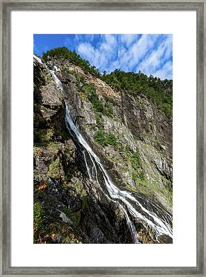 Framed Print featuring the photograph Tuftefossen, Norway by Andreas Levi