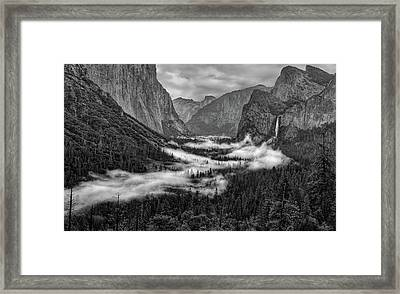 Framed Print featuring the photograph Tunnel View by Rand