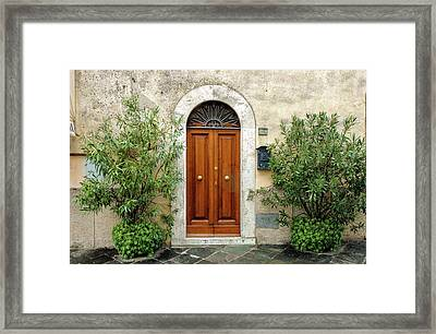 Tuscan Door Framed Print