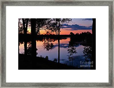 Twilight By The Lake Framed Print