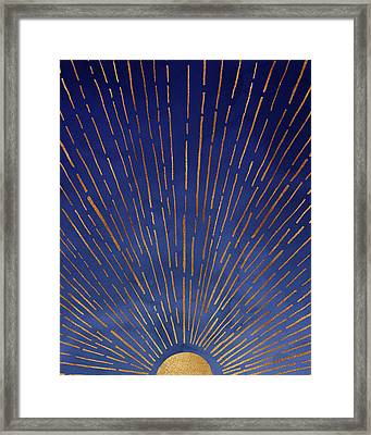 Framed Print featuring the mixed media Twilight Sunset by Kristian Gallagher