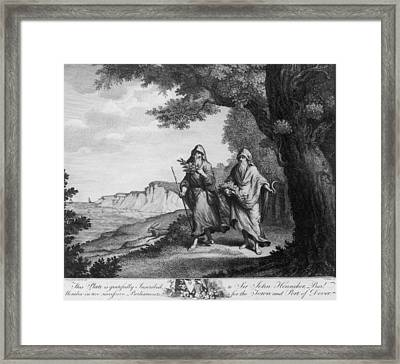 Two British Druids Framed Print by Hulton Archive