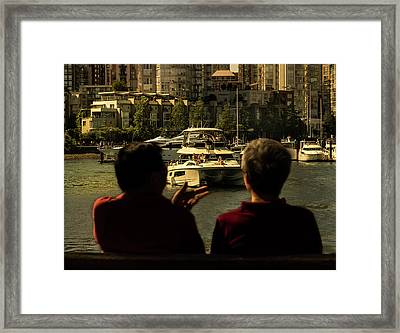 Two Friends At The Vancouver Bay Framed Print