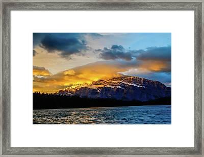Two Jack Lake, Banff National Park, Alberta, Canada Framed Print