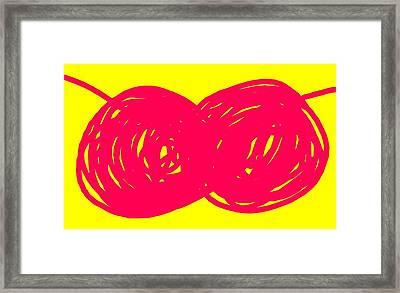 Two Red Cherries Framed Print