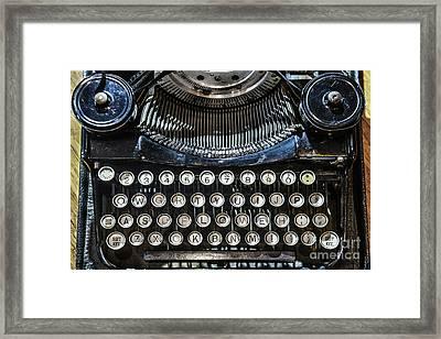 Type Love Framed Print by Stacey Granger