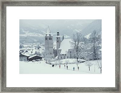Tyrolean Churches Framed Print by Slim Aarons