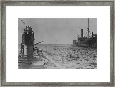 U-boat Attack Framed Print by Hulton Archive