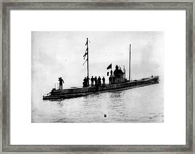 U-boat Framed Print by Topical Press Agency