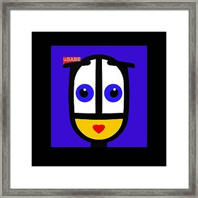 Ubabe Blue Framed Print