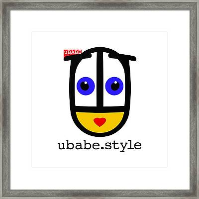 Ubabe De Stijl Framed Print