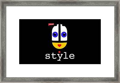 Ubabe Dot Style Framed Print